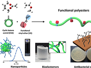 Degradable and functional polyesters